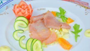 Bresaola di pesce spada con finocchio e arancio